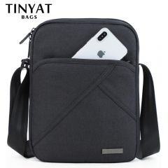 Men's bag light Men Shoulder Bag for 9.7'pad 8 pocket Waterproof Casual crossbody bag Black Canvas Messenger bag shoulder