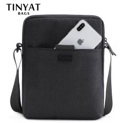 Men's Bags Light Canvas Shoulder Bag For 7.9' Ipad Casual Crossbody Bags Waterproof Business Shoulder bag for men 0.13kg