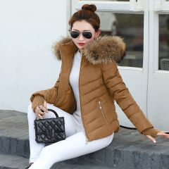 New Winter Coat Women Winter Jacket Womens Parkas Gloves warm detachable fur collar detachable hat Slim fit Outwear