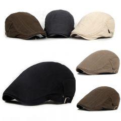 New Men's Hat Berets Cap Golf Driving Sun Flat Cap Fashion Cotton Berets Caps for Men Casual Peaked Hat Visors Casquette Hats