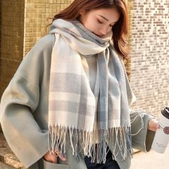 Autumn Winter Female Plaid Scarf Women fashion Scarves Wide Lattices Long Shawl Wrap Blanket Warm Tippet