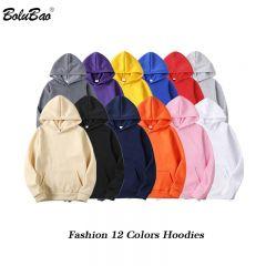 Fashion Brand Men's Hoodies Spring Autumn Male Casual Hoodies Sweatshirts Men's Solid Color Hoodies Sweatshirt Tops