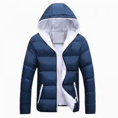 Winter Casual Outwear Windbreaker Jaqueta Masculino Slim Fit Hooded Fashion Overcoats Homme Plus Size