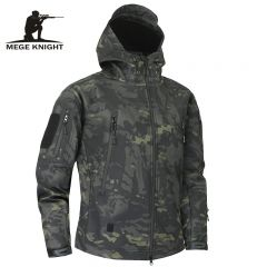 Skin Soft Shell Military Tactical Jacket Men Waterproof Army Fleece Clothing Multicam Camouflage Windbreakers 4XL