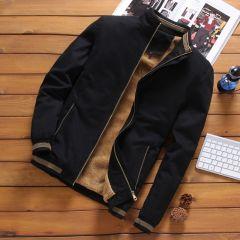 Autumn Mens Bomber Jackets Casual Male Outwear Fleece Thick Warm Windbreaker Jacket Mens Military Baseball Coats Clothing
