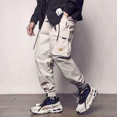 Pockets Cargo Pants Men Color Patchwork Casual Jogger Fashion Tactical Trousers Tide Harajuku Streetwear