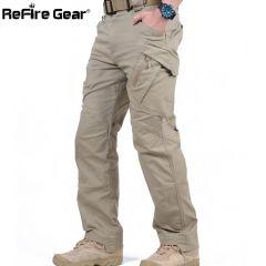 Cargo Pants Men Combat SWAT Army Military Pants Cotton Many Pockets Stretch Flexible Man Casual Trousers XXXL