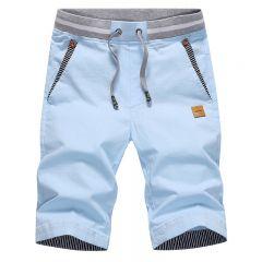 summer solid casual shorts men cargo shorts plus size 4XL beach shorts