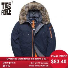 Winter Jacket Men Padded Parka Russia Man Winter Coat Artificial Fur Big Pockets Medium-long Thick Parkas Snowjacket