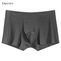 Men Boxers Luxury Silk Antibacterial Boxers Underwear Boxer Spandex 3D Crotch Boxer Nylon Underwear Shorts Slips XXXL