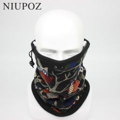 New Fashion Winter Owl Bandana Scarf Men Moto Headband Camouflage Multifunctional Seamless Tubular Unisex Warm Ring Wrap