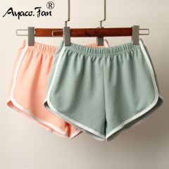 New Candy Color Anti Emptied Skinny Shorts Casual Lady Elastic Waist Beach Correndo Short Pants