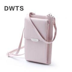 New Women Casual Wallet Brand Cell Phone Wallet Big Card Holders Wallet Handbag Purse Clutch Messenger Shoulder Straps Bag