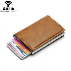 Smart Wallet Business Card Holder Hasp Rfid Wallet Aluminum Metal Credit Business Mini Card Wallet Dropshipping man women