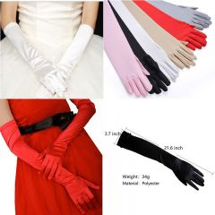 MISM Satin Women Long Gloves Female Elbow Summer Sun Protection Driving Gloves Opera Evening Party Prom Ladies Gloves