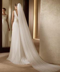 Elegant Wedding Accessories 3 Meters 2 Layer Wedding Veil White Ivory Simple Bridal Veil With Comb Wedding Veil Hot Sale