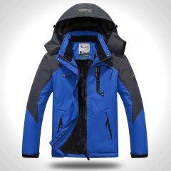 Winter Jacket Men Thick Velvet Warm Coat Male Windproof Hooded Jackets Outwear Casual Mountaineering Overcoat
