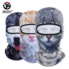 3D Cat Dog Cute Animal Balaclava Windproof Skullies Beanie Funny Helmet Liner Winter Hat Warmer Full Face Mask Cap Women Men