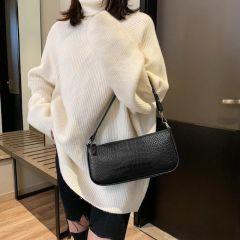 Retro Alligator Pattern Women Messenger Handbags Casual Solid Shoulder Bags for women Split Retro Crocodile Bolsas