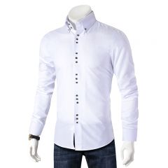 Casual Shirt Men Long Sleeve Slim Fit Men's Casual Button-Down Shirt Formal Dress Shirts Men Clothes Camisa