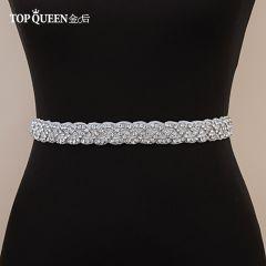 Women's Rhinestones Handmade Belt Wedding Belt Accessories Marriage Bridal Sashes Wedding Bridal Sashs Any Size