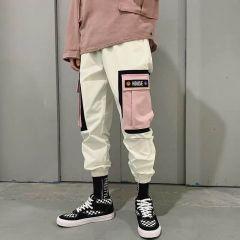 Hip Hip Pants Vintage Color Block Patchwork Corduroy Cargo Harem Pant Streetwear Harajuku Jogger Sweatpant Cotton Trousers