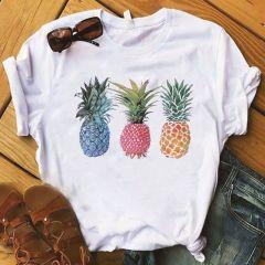 Pineapple fruits Clothing T-shirt Fashion Female Tee Top Graphic T Shirt Women Kawaii Camisas Mujer Clothes