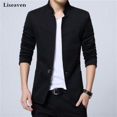 Men Jackets Male Stand Collar Male Blazers Slim Fit Mens Blazer black Jacket Men