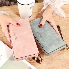 Female Wallet PU Leather Long Purse Black/pink/blue/green/gray Famous Brand Designer Wallet Women Quality Female Purse