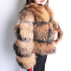 Winter New natural fox fur coat short section warm thickening real fox fur jacket fashion luxury slim real fur coat women
