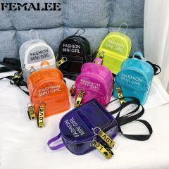 Trendy New Women Jelly Sac Phone Bag Shoulder Bag Female Clear Mini Phone Messenger Bag Transparent Girls Crossbody Handbag