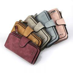 Wallet Women Leather Luxury Card Holder Clutch Casual Women Wallets Zipper Pocket Hasp Ladies Wallet Female Purse