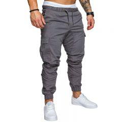 Autumn Men Pants Hip Hop Harem Joggers Pants  New Male Trousers Mens Joggers Solid Multi-pocket Pants Sweatpants