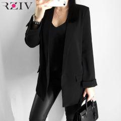 women's blazer suit jacket coat casual solid color single button coat OL blazer suit