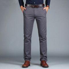Men's Pants Straight Loose Casual Trousers Large Size Cotton Fashion Men's Business Suit Pants Green Brown Grey