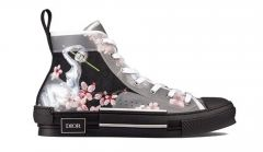 Dior B23 High Top Canvas Sorayama Robot Black Sneakers