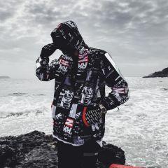 Harajuku Color Block Jacket Streetwear Mens Hip Hop Windbreaker Jacket Printed Street Dance Jacket Coat Autumn Summer Clothes