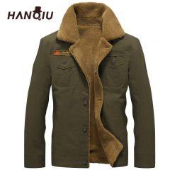 Winter Bomber Jacket Men Air Force Pilot MA1 Jacket Warm Male fur collar Mens Army Tactical Fleece Jackets Drop Shipping