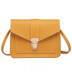 Fashion Small Crossbody Bags for Women Mini PU Leather Shoulder bag Messenger Bag for Girl Yellow bag Ladies Phone Purse