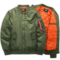 High quality Ma1 Thick and thin Army Green Military motorcycle Ma-1 aviator pilot Air men bomber jacket