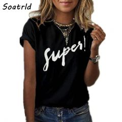 New Women's T-shirt Super Print Summer Short Sleeve O-neck Casual Tee Tops Female T shirt Woman Clothing