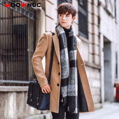 Wool Blend Men's Coat Woollen Overcoat Winter Autumn Men Coat Fashion Brand Clothing Lined Warm Woolen Overcoat Male
