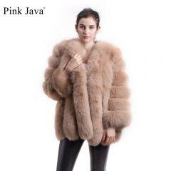 new arrival FREE SHIPPING women winter real fox fur coat hot sale big fur long sleeve