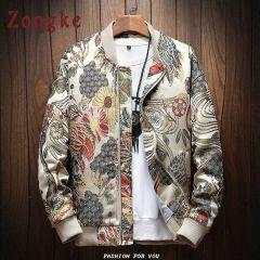 New Autumn Winter Casual Jacket Men Coat Japanese Embroidery Slim Fit Bomber Jacket Male Windbreaker Men Coats M-5XL