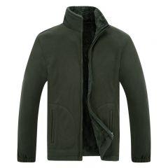 Winter Jacket Men Soft Shell Fleece Warm Army Green Men Windbreaker