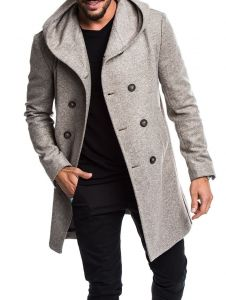 Hot Sale Autumn Winter Men Hooded Wool Coats High Quality Wool Trench Casual British Style Gentles Slim Fit Overcoats