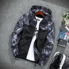 Men's wear casual camouflage jacket. of Slim handsome spring autumn casual solid color large size baseball clothes