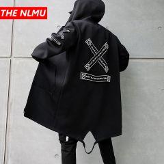 Spring Harajuku Windbreaker Overcoat Male Casual Outwear Hip Hop Streetwear Coats