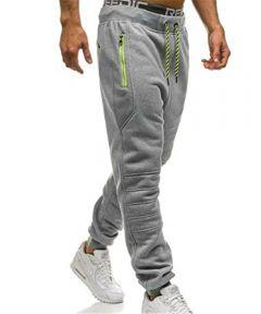 Sweatpants Men Zipper Pockets Solid Color pantalon hombre Casual Trousers Men Clothes Joggers Pants Man fashion Street Wear