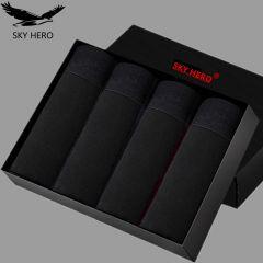 4pcs/lot Mens Boxers Underwear Cotton Boxer Underpants Homme Boxershorts Calzoncillos Hombre Jockstrap Panties for Man U Convex